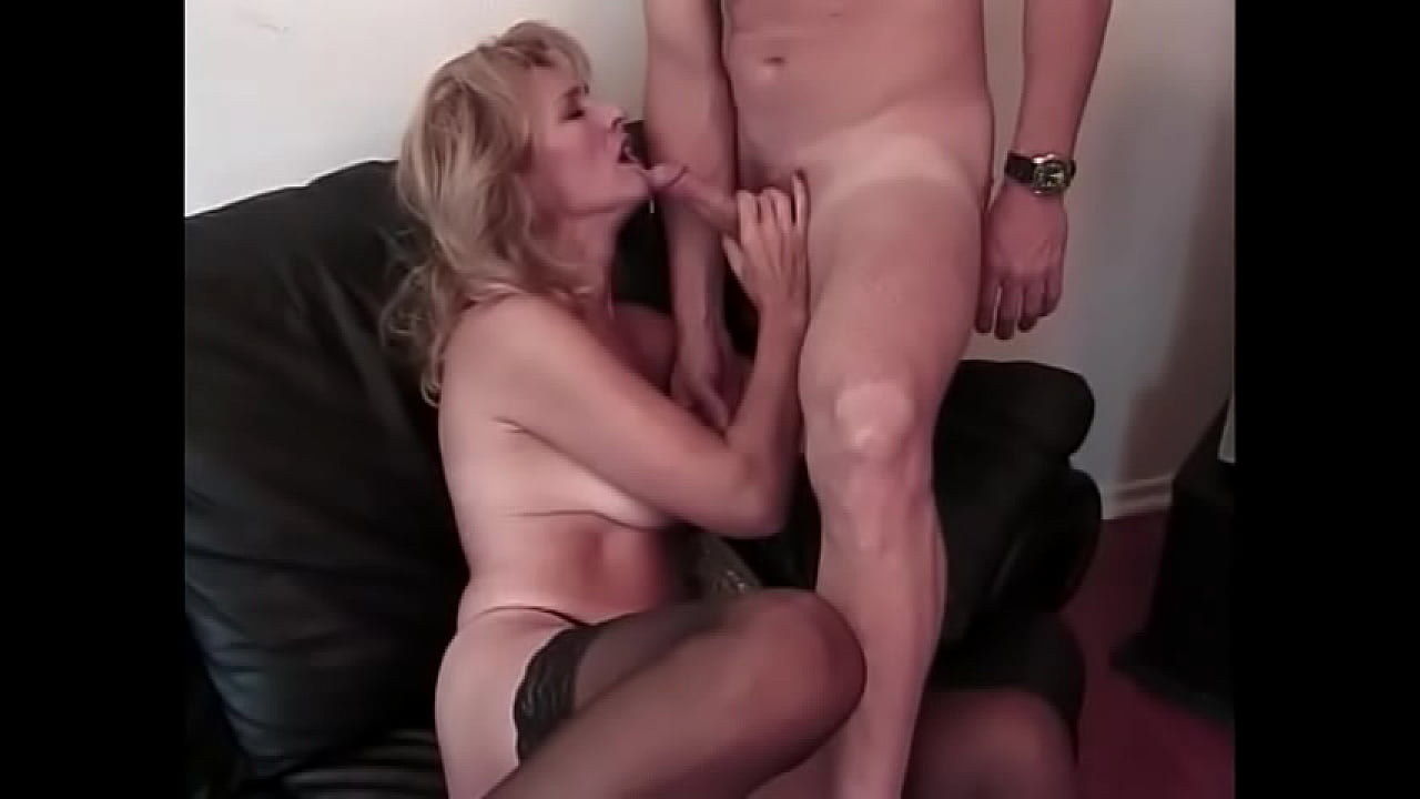 Real mature wife on her knees blowjob