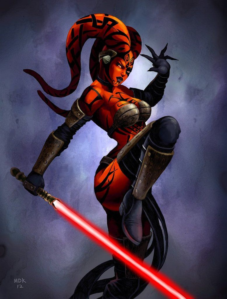Girl in darth maul paint naked blowjob