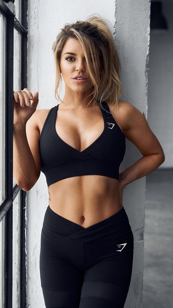Hot women in work out clothes